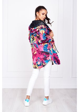 JUNGLE FLOWERS PRINT PARKA ILM