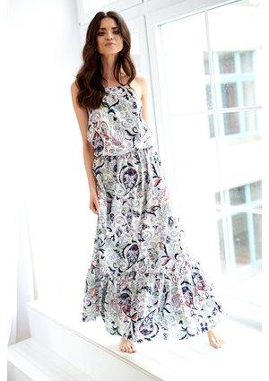 HINDI PRINT MAXI DRESS