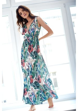 MAXI DRESS IN TROPICAL PRINT