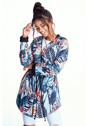 EXOTIC LEAVES PRINT PARKA ILM