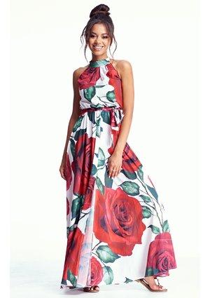 MAXI DRESS IN ROSES PRINT