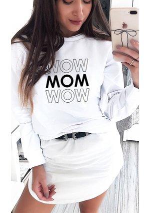 """BAWEŁNIANA BLUZA """"MOM MOM.."""""""