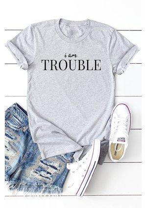 "T-SHIRT  ""IM TROUBLE"" ILM"