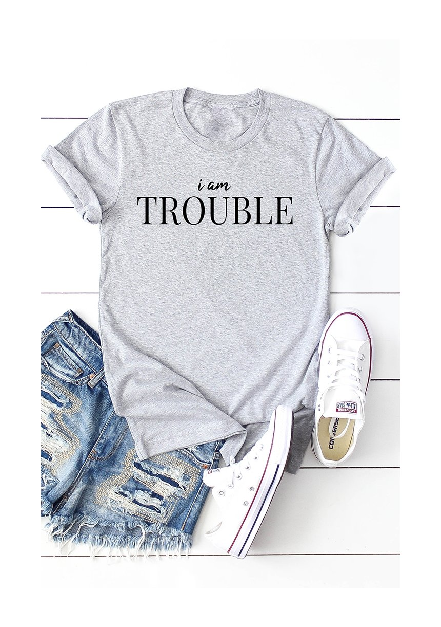 "T-SHIRT  ""IM TROUBLE"" ILM"