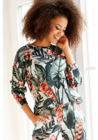 BLUZA EXOTIC LEAVES PRINT ILM