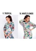 ALOHA FLOWERS PRINT SWEATSHIRT ILM