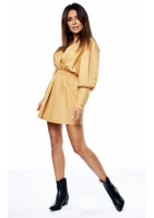 Sukienka z popeliny misted yellow