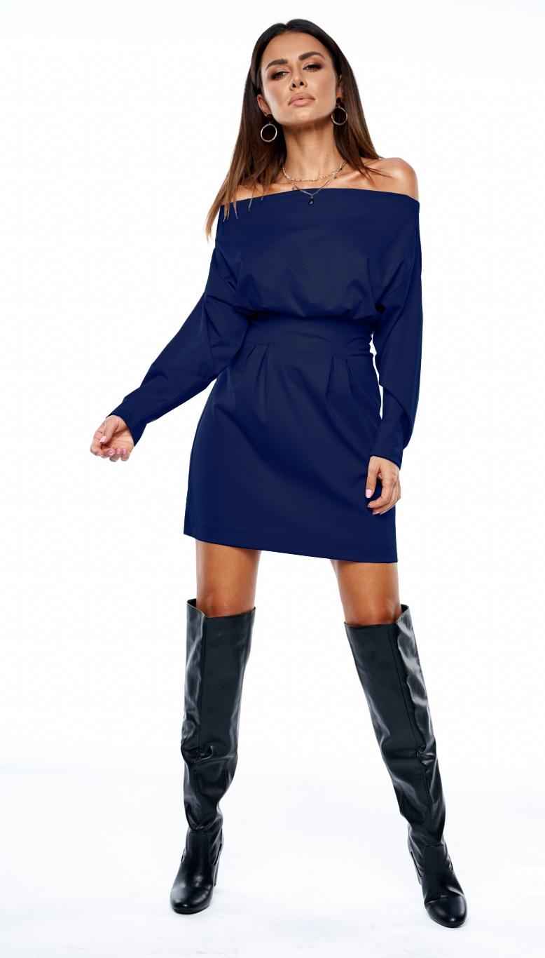 Sukienka z luźną górą Granatowa