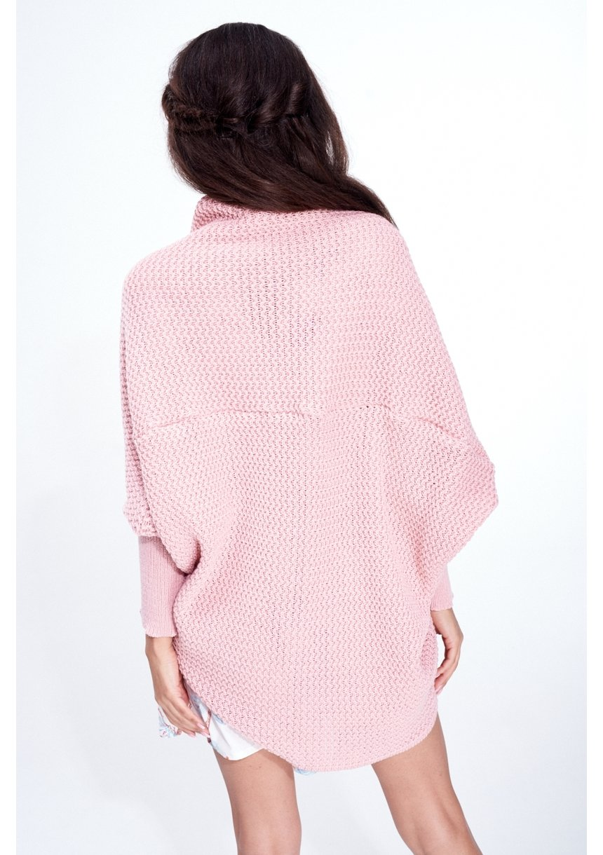 SWETER NARZUTKA OVERSIZE ILM A01 PUDROWY