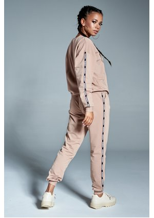 BEIGE TRACKSUIT WITH BRAND LOGO STRIPES ILM
