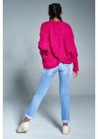 Sweter narzutka z warkoczem A15 ILM