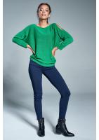 Sweter z bawełną A07 Zielony ILM