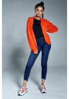 Krótki kardigan A08 Pomarańczowy