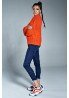Krótki kardigan A02 Pomarańczowy