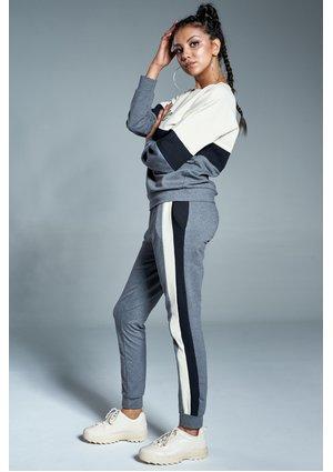 Spodnie z lampasami Grafitowe ILM