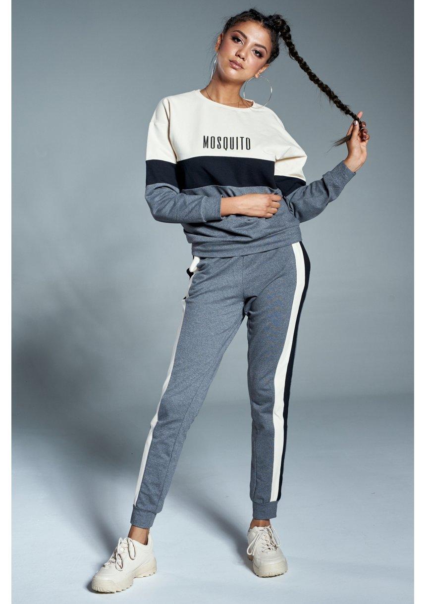 Bluza z czarną wstawką Grafitowa ILM