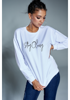 """Bawełniana bluza """"Stay Classy"""" biała ILM"""