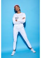 """Bawełniana bluza """"Złośnica"""" biała ILM"""