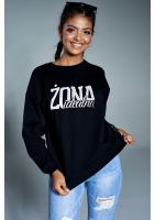 """Bawełniana bluza """"Żona idealna"""" czarna ILM"""