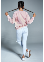 """Bawełniana bluza """"Super woman"""" pudrowa ILM"""