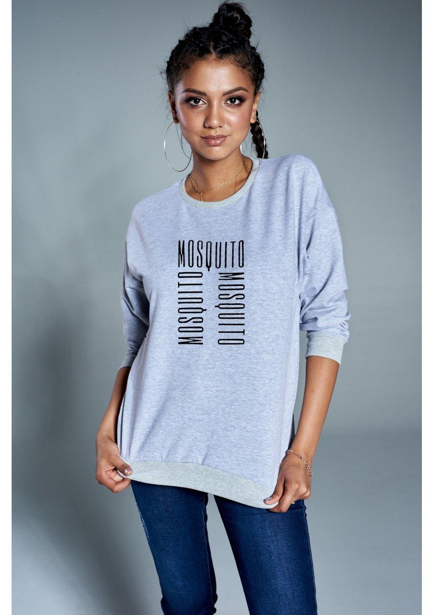"Bawełniana bluza ""Logo MOSQUITO"" szara ILM"