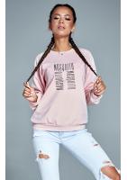 "Bawełniana bluza ""Logo MOSQUITO"" pudrowa ILM"