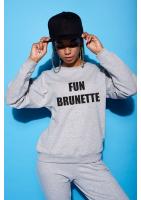 """Bawełniana bluza """"Fun brunette"""" szara  ILM"""
