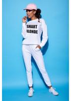 """Bawełniana bluza """"Smart blondie"""" biała ILM"""