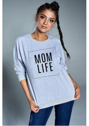 "Bawełniana bluza ""Mom life"" szara ILM"