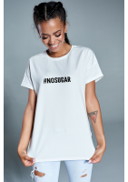 "T-shirt "" no sugar"" Biały ILM"