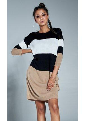 Swetrowa sukienka w pasy A11 ILM