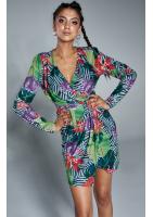 Sukienka z asymetrią Colors flower