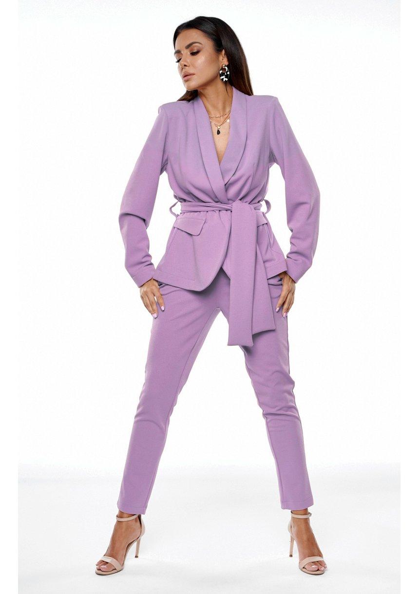 Klasyczny garnitur w kolorze Fioletowym