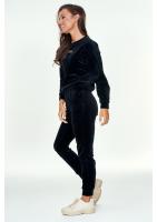 Spodnie z weluru Czarne ILM