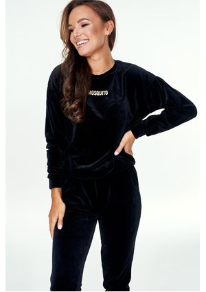 BLACK VELOUR SWEATSHIRT ILM