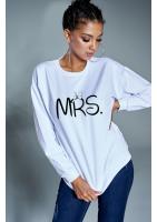 """Bawełniana bluza """"MRS"""" biała ILM"""