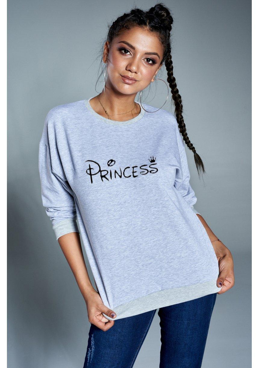 """Bawełniana bluza """"Princess"""" szara ILM"""