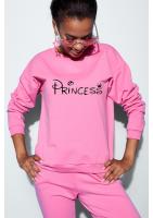 "Bawełniana bluza ""Princess"" fuksja ILM"