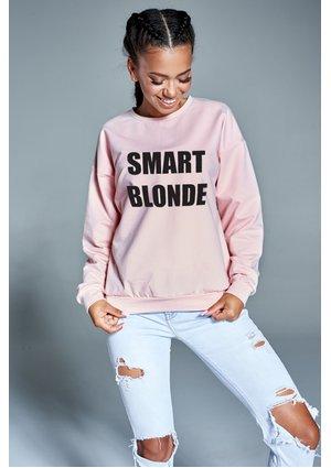"""Bawełniana bluza """"Smart blondie"""" pudrowa ILM"""