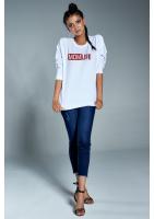 """Bawełniana bluza """"Red mom life"""" biała ILM"""