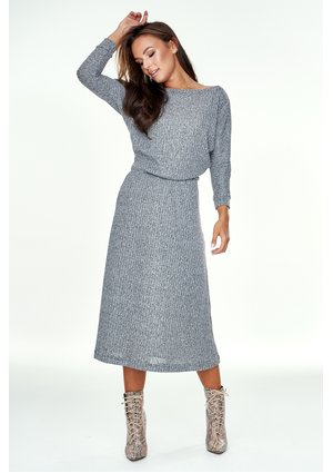 DARK GREY SWEATER DRESS