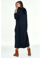 Asymetryczna tunika z kapturem Czarna