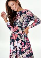 Sukienka z wiskozy midi w Kwiaty