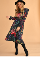 Sukienka midi  Kwiatowy wzór