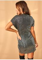 Sukienka mini Sequins Srebrna
