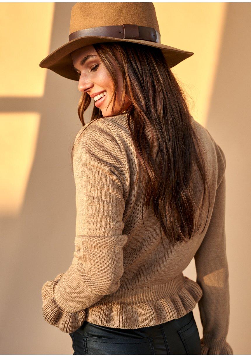Sweter z falbanką ILM A42