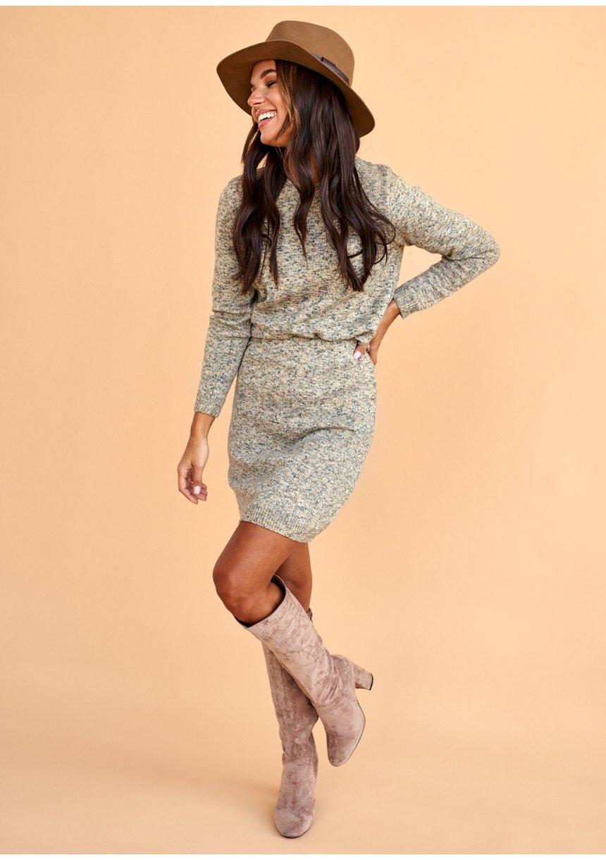 Melanżowy komplet swetrowy ILM A99