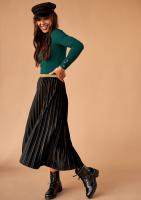 Spódnica plisowana midi Czarna