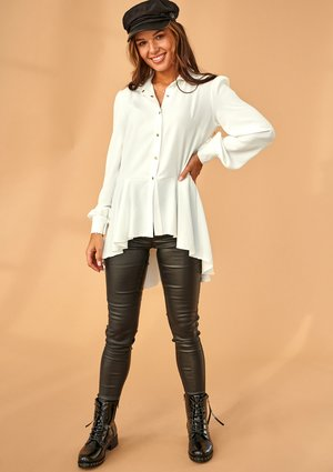 ECRU ASYMMETRIC SHIRT