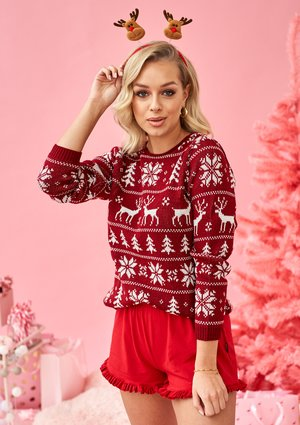 BURGUNDY WINTER TIME SWEATER ILM A24